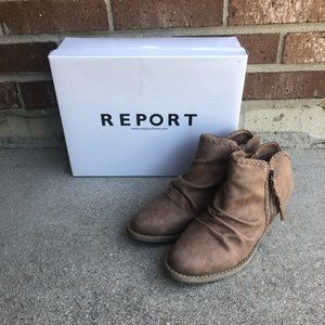 Report Scrunched Ankle Boots Booties 7 Tan Brown